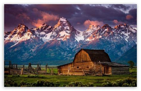 Mountain Log Cabin 4k Hd Desktop Wallpaper For 4k Ultra Hd