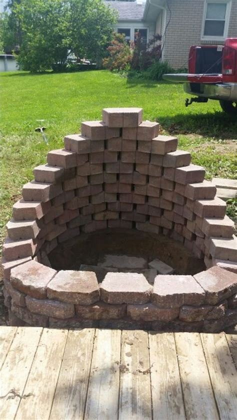 pit landscape build a fire pit from cement landscape blocks diy projects for everyone
