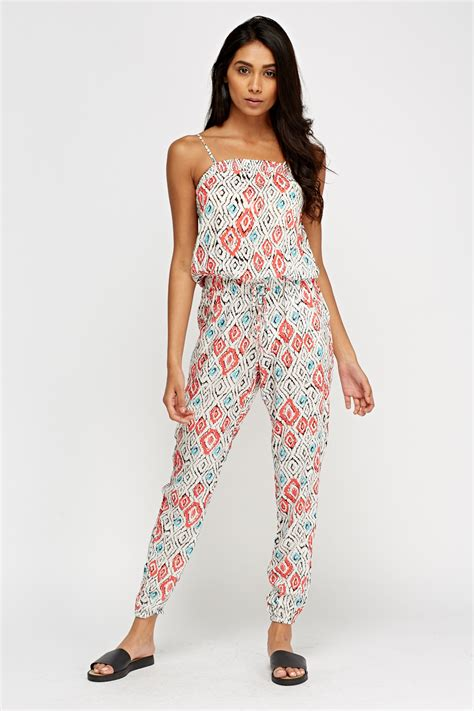 printed jumpsuits printed white jumpsuit white multi just 5