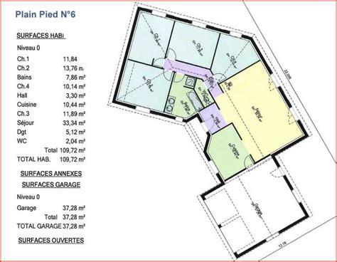 plan villa plain pied 4 chambres plain pied n 6 maisons columbia