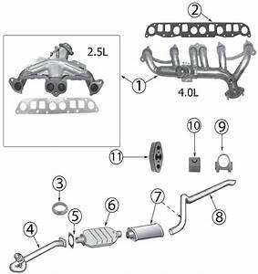 1998 Jeep Wrangler Exhaust Diagram