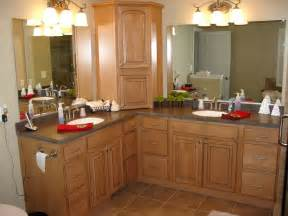 l shaped double vanity bathroom renovations pinterest