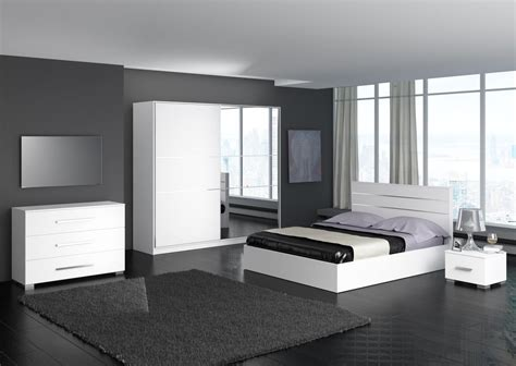chambre a coucher chambre a coucher blanche moderne