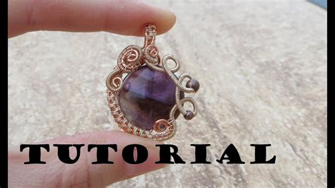 tutorial demo wire wrapped gemstone pendant