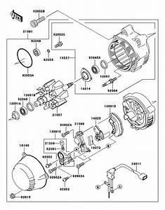 Kawasaki Concours Zg1000 Alternator  U0026 Zzr1200 Alternator