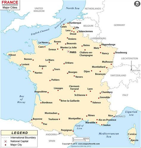 map showing major cities  france maps globes