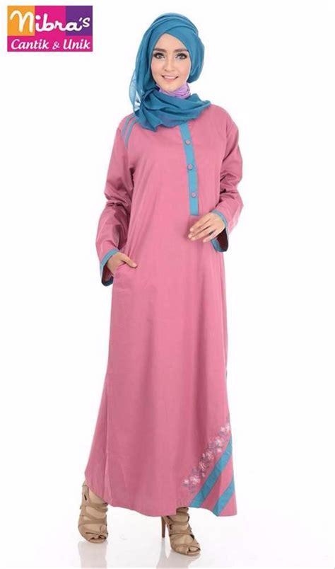 baju gamis perempuan jual terbaru baju gamis perempuan murah nibras nb 117 manggis original gamis modern terbaru di