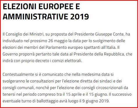 Min Interno Elezioni by Elezioni Europee 2019 Comune Di Spoleto
