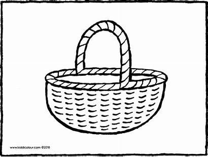 Einkaufskorb Basket Shopping Boodschappenmand Panier Kiddicolour Colouring