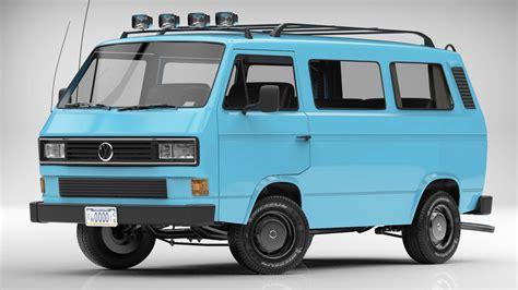 t3 vw 3d volkswagen transporter t3