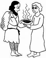 Jacob Esau Coloring Stew Bowl Give Netart sketch template
