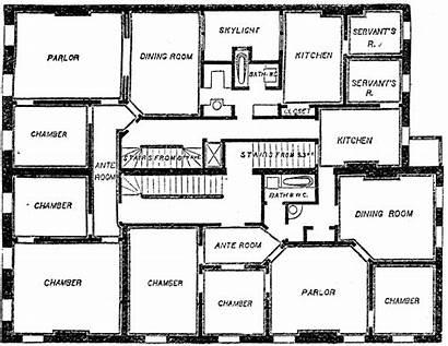 Plan Floor Clipart Clip Flat Double Site