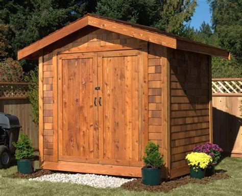 The Cedar Shed - what really sets the 6x6 cedar shed kit apart is the