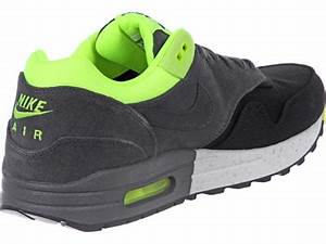 Nike Air Max 1 shoes black grey neon