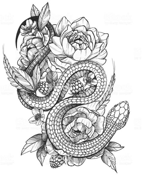 36+ Best Snake And Flower Tattoo Designs & Meanings