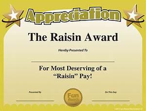 free printable certificates funny printable certificates With fun award templates