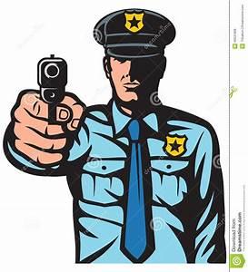 Policeman Pointing A Gun Stock Photo - Image: 40531908