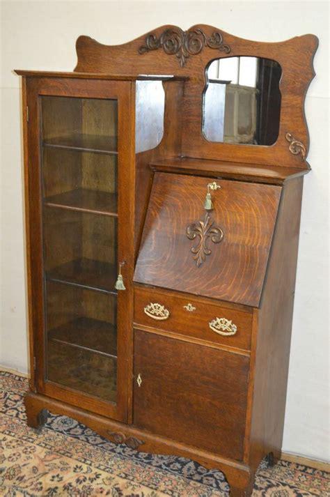 drop front secretary desk larkin antique 1900 39 s drop front tiger oak secretary desk