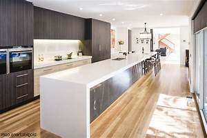 Two tone kitchen cabinets modern dark color countertop for Kitchen colors with white cabinets with modern black and white wall art