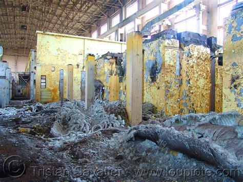 asbestos waste  abandoned factory stock photo