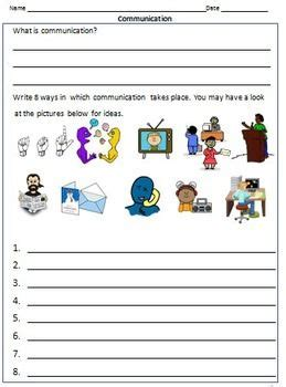transport communication worksheets  grade