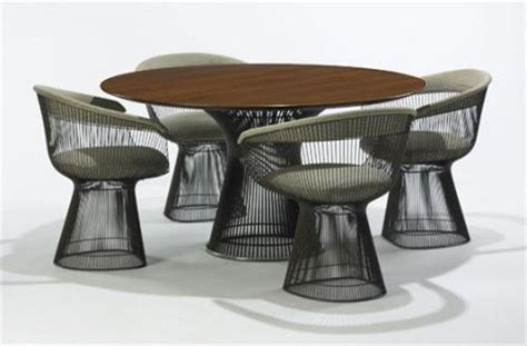missouri table chair warren platner dining table model 3716t and four dining