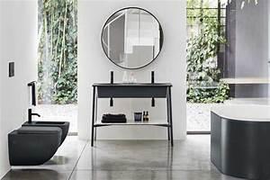 Meuble Salle De Bain Metal : les plus beaux meubles de salle de bain encadr s de m tal noir ~ Teatrodelosmanantiales.com Idées de Décoration
