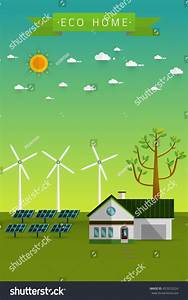 Poster Banner Eco Friendly House Solar Stock Vector ...
