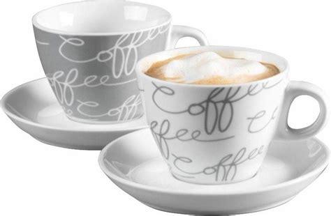 ritzenhoff cappuccino tassen ritzenhoff breker cappuccinotasse 187 cornello grey 171 4 tlg