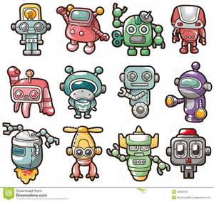 Robot Cartoon Drawings