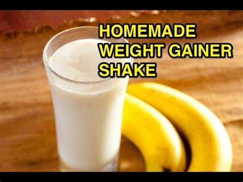 How to make a fast homemade weight gainer protein shake