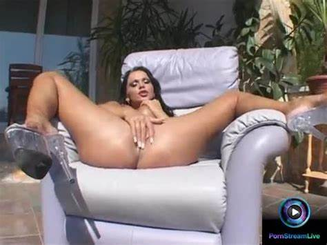 Zasha Gapes Her Ass While Sitting On A Straw Chair