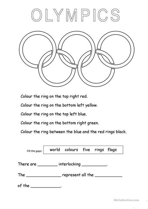olympic worksheets for olympic rings worksheet free esl printable worksheets