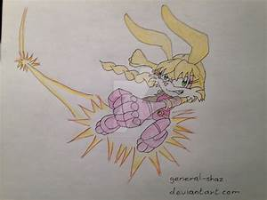 Bunnie Rabbot Flying Punch - Coloured Art by General-Shaz ...