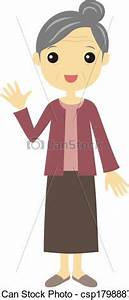 older woman standing clipart - Clipground