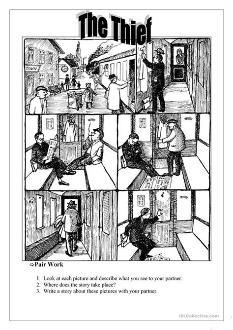 thief english esl worksheets  distance learning