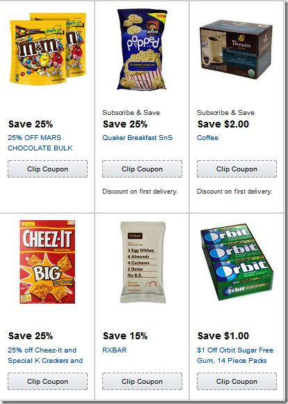 coupons amazon grocery items percent