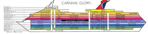 carnival valor deck plan printable printable map of the carnival cruise critic