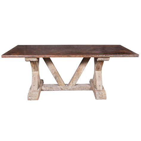 oak and steel dining table architectural dining table with aged oak bare and steel