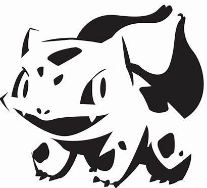 Pumpkin Pokemon Bulbasaur Stencils Template Halloween Carving