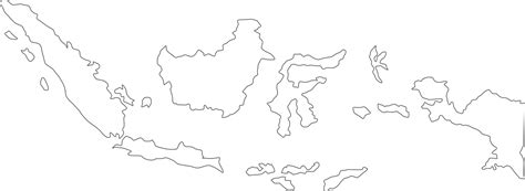 indonesia map  cities blank outline map  indonesia