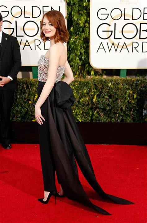Emma Stone And Alan Cumming Are Best Dressed At The Golden
