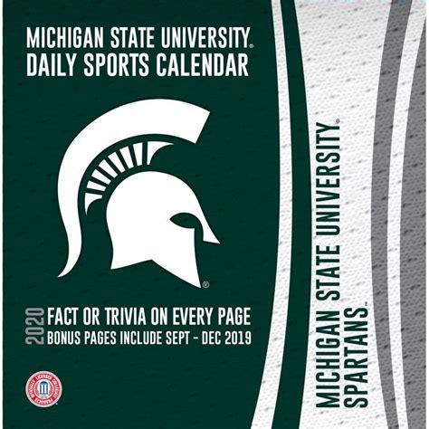 michigan state spartans desk calendar