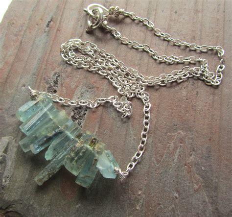 natural aquamarine crystal necklace rough