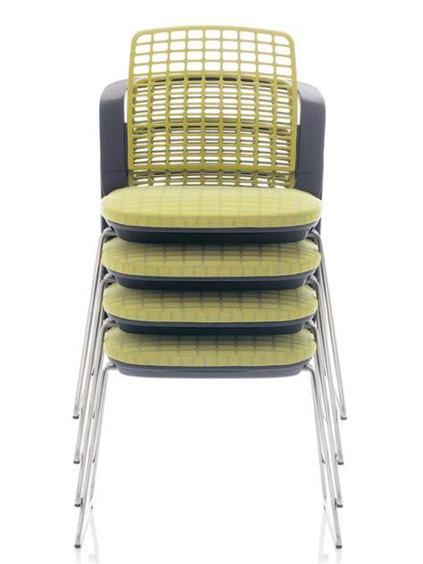 si鑒es de bureau ergonomiques sideways chaise de bureau ergonomique håg empilable avec dossier troué sediarreda