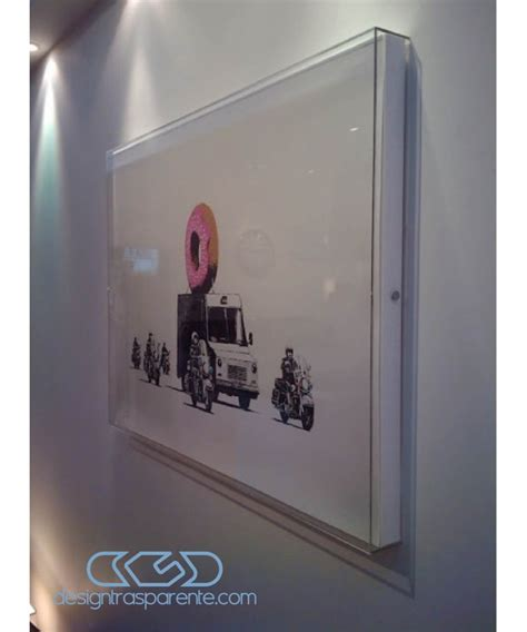cornici a giorno in plexiglass cornice a giorno cm 45x45x5 box in plexiglass teca per quadri