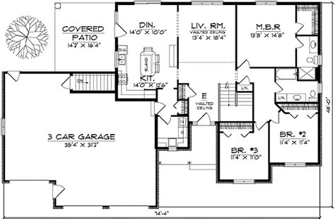 traditional ranch style home plan ah