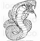 Drawing Snake Reptiles Coloring Pages Adult Snakes Costume Adults sketch template