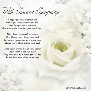 With Sincerest Sympathy - Free Sympathy Cards To Share ...
