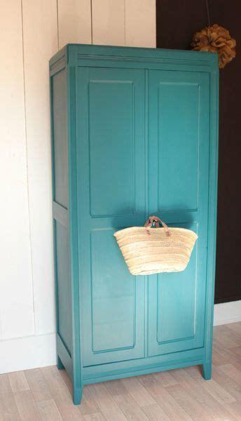 armoire parisienne chambre enfant vintage bleue ées 50